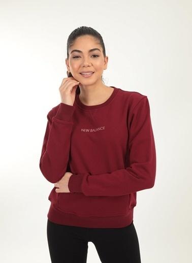 New Balance New Balance Womens Sweatshirt Kadın Sweatshirt WPC029-BKR WPC029-BKR034 Kırmızı